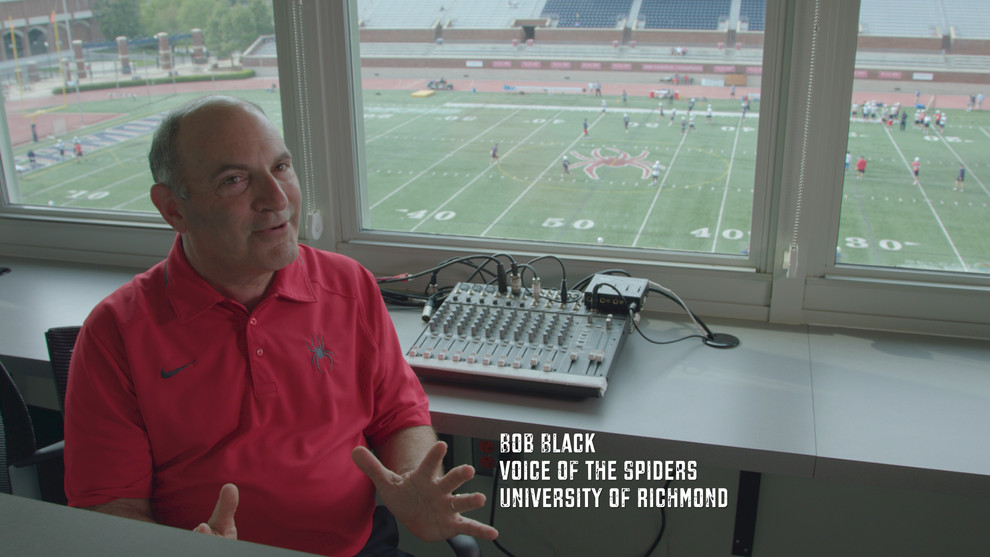 """Bob Black has been the """"Voice of the Spiders"""" since my days as a player. He's synonymous with Spider sports history. Bob has provided the play-by-play account for Spider football and men's basketball broadcasts on radio, television and SpiderTV for over 30 years.   In this clip Bob explains what the coaching staff was looking for when recruiting. They were looking for the best ATHLETES. What does that mean? Yes, it refers strength, speed, and athleticism. However, the most important ingredients were the following. They had to be students of the game and were they COACHABLE. These two factors could directly impact the TEAM'S success. Coaches were there to teach and get the most out of each player. But, the athlete had to have the ability to absorb instruction and feedback. Making adjustments on the fly, quick installation periods, and implementation separated average TEAMS and GREAT TEAMS. It didn't matter where an athlete fell on the depth chart. The MINDSET of each player had to be enthusiastic and highly motivated. When a group of people come together who share the same standards and work habits great things can happen. Thank you Bob for all your years of hard work and dedication to the SPIDERS. We can't thank you enough for being a part of the Just A Kid From Fall River documentary."""