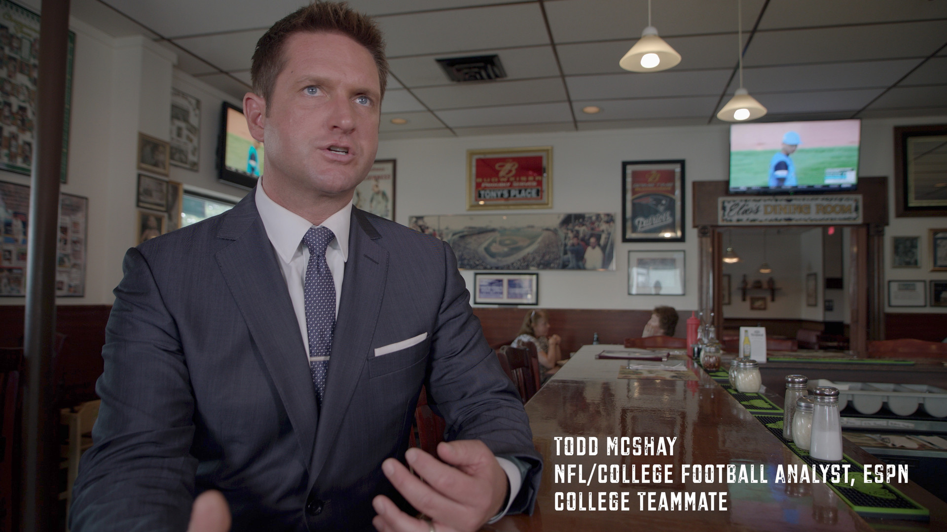 """Todd McShay is not only ESPN's NFL Draft specialist, but he was also my teammate at University of Richmond. A diligent worker with a deep love for the game of football.  His work ethic and drive to go ALL IN has helped him rise to the top of the most prominent sports network in the world. Listen in as Todd explains the football mindset going through the most challenging times. The """"I GOT THIS"""" mentality became the three most important words when things became challenging. That didn't mean things were easy. It was our way of keeping a positive mindset and staying on course. Thank you Todd for being a great friend and being a part of the Just A Kid From Fall River film project. Shoutout to director Randy West of Monarch Productions for his relentless work on this project."""