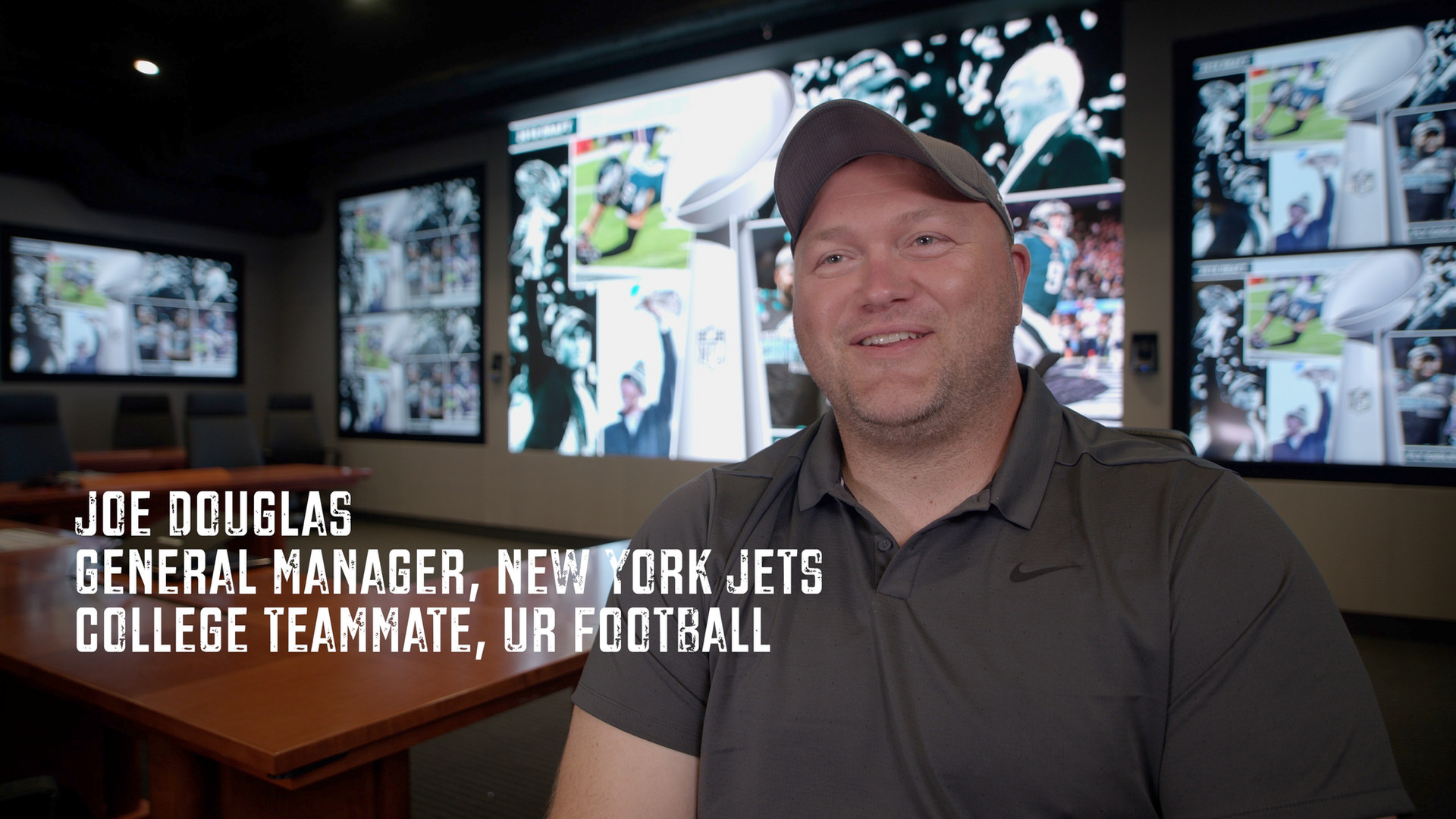 This is one of the hardest working and humble guys I know. His name is Joe Douglas. He is a dear friend and was one of my TEAMMATES at the University of Richmond. He was just hired to be the General Manager of the New York Jets. What people don't know is it took him 20 years of grunt work that no one saw. Months of time away from his family. He grinded it out as a junior scout for the better part of two decades as he climbed the ranks. I practiced against Joe everyday in college. He always brought the best out of me. I have tremendous RESPECT for his drive and character. He's one of my many TEAMMATES who have achieved at a high level and continue to climb. There are so many lessons we could pull from his journey. I believe the most important is patience and persistence. Click on the link in my bio to see footage of Joe in the TV show HARD KNOCKS in his first year with the Ravens. Also, Joe was the head of Player Personnel when the Eagles won their last Super Bowl. Thank you Joe for being a part of the @justakidfromfallriver film project. Another shoutout to @monarchproductions for his relentless work on this project.