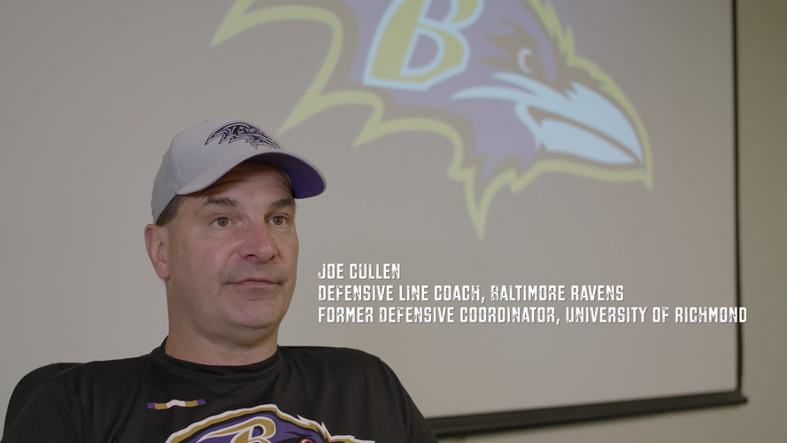"""""""This is Coach Joe Cullen. I cannot even describe how tough he was to play for. Ask anyone who has ever played for him. If you didn't go 100 miles an hour you were going to have a very bad day. Players called him crazy, insane, psycho, and nasty. But they also called him THE BEST. Coach Cullen took countless players who no one recruited or wanted and turned them into All-Americans. He wouldn't make you do a drill 2 or 3 times if you messed up, he'd make you do it 10-15 times full speed. Players cringed at his non-stop screaming from the meeting room to the end of practice and into the looker room. Two important things to remember whenever you hear the name Joe Cullen. 1. He held you accountable because he cared 2. He's one of the smartest coaches in the NFL today. I wouldn't be the person I am today without his tough love."""""""