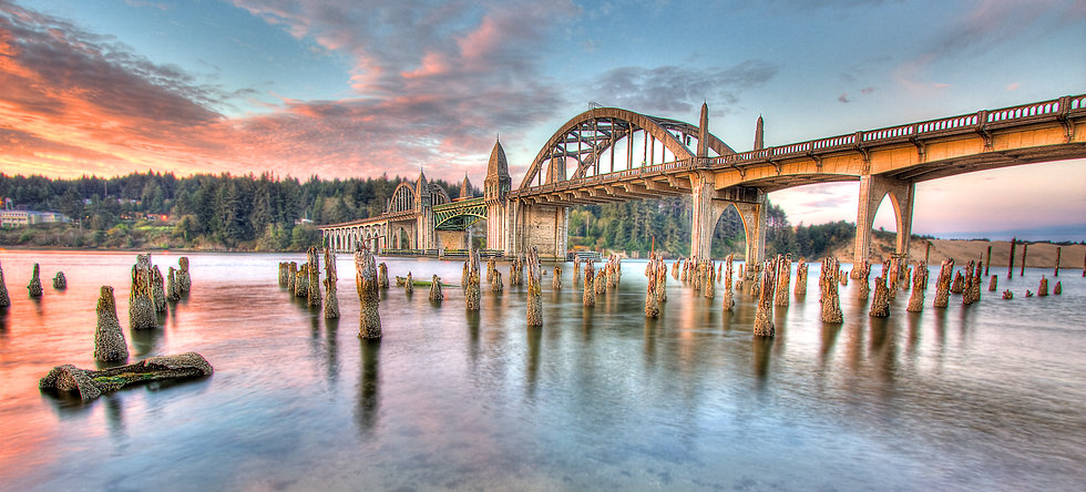 The Siuslaw River Bridge is a bascule bridge that spans the Siuslaw River on U.S. Route 101 in Florence, Oregon