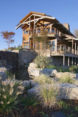 Exterior shot of modern home design