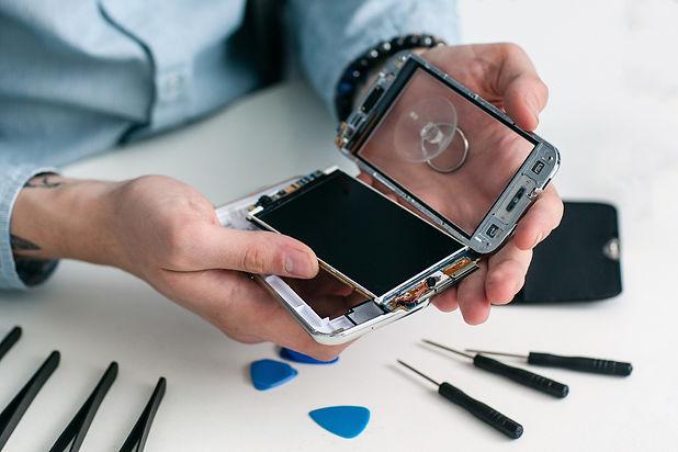 Smart phone repair in process