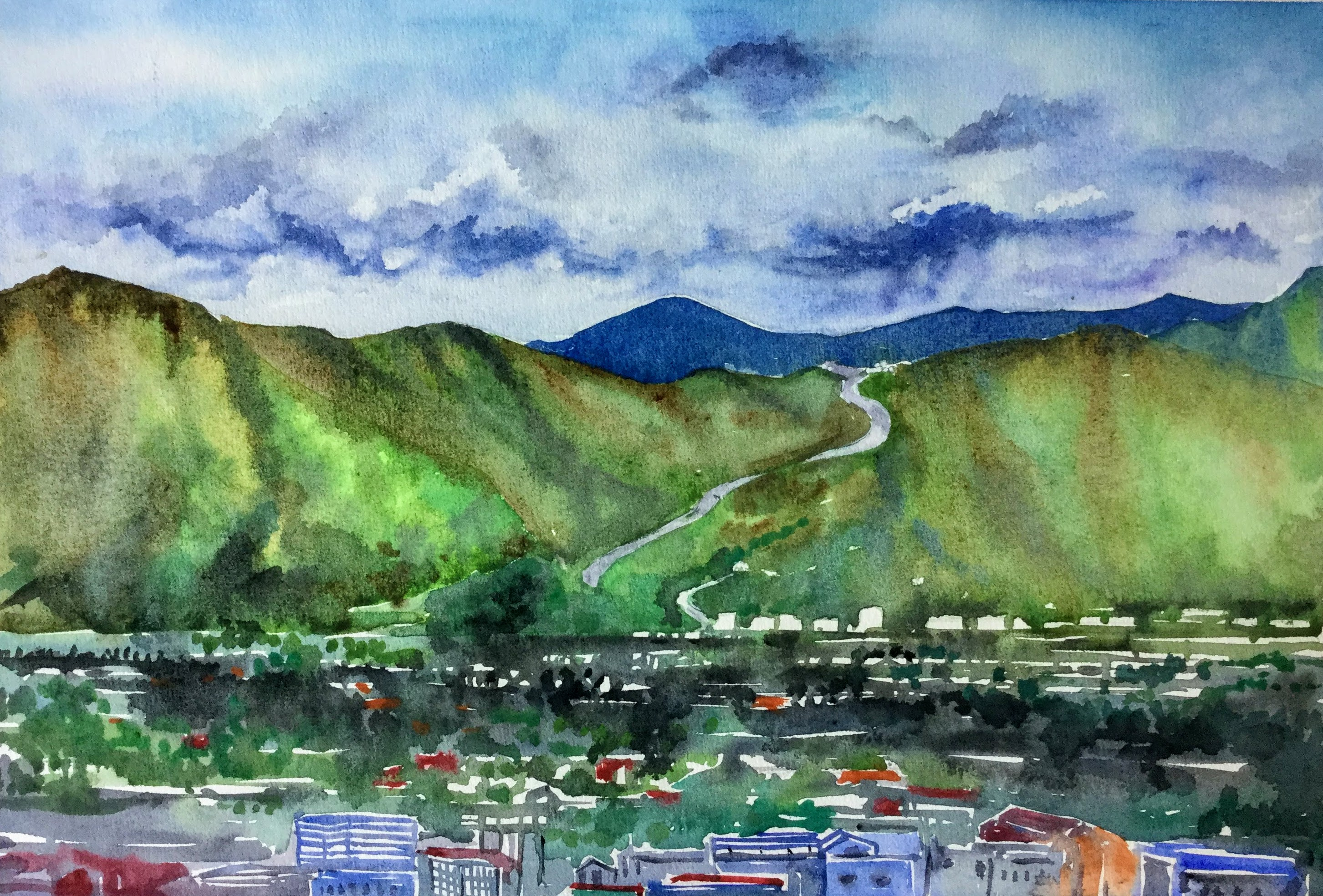 Wainuiomata Road view from Harbour view