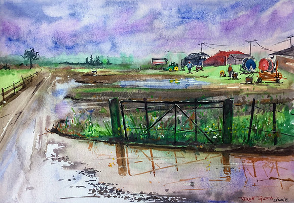 Countryside after a Rain Scene 2