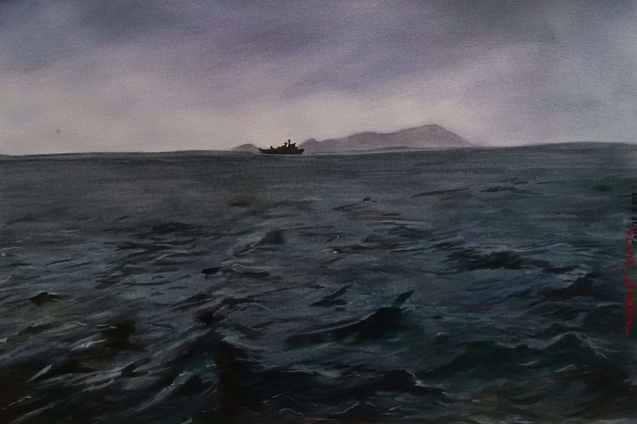 A ship in the storm - Somes Island - Wellington