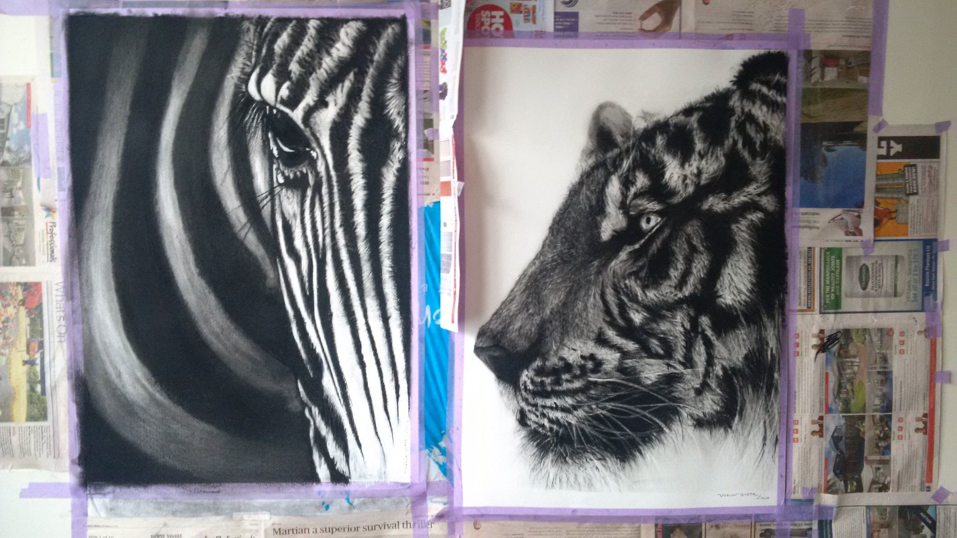 Final Paintings for Exhibitions