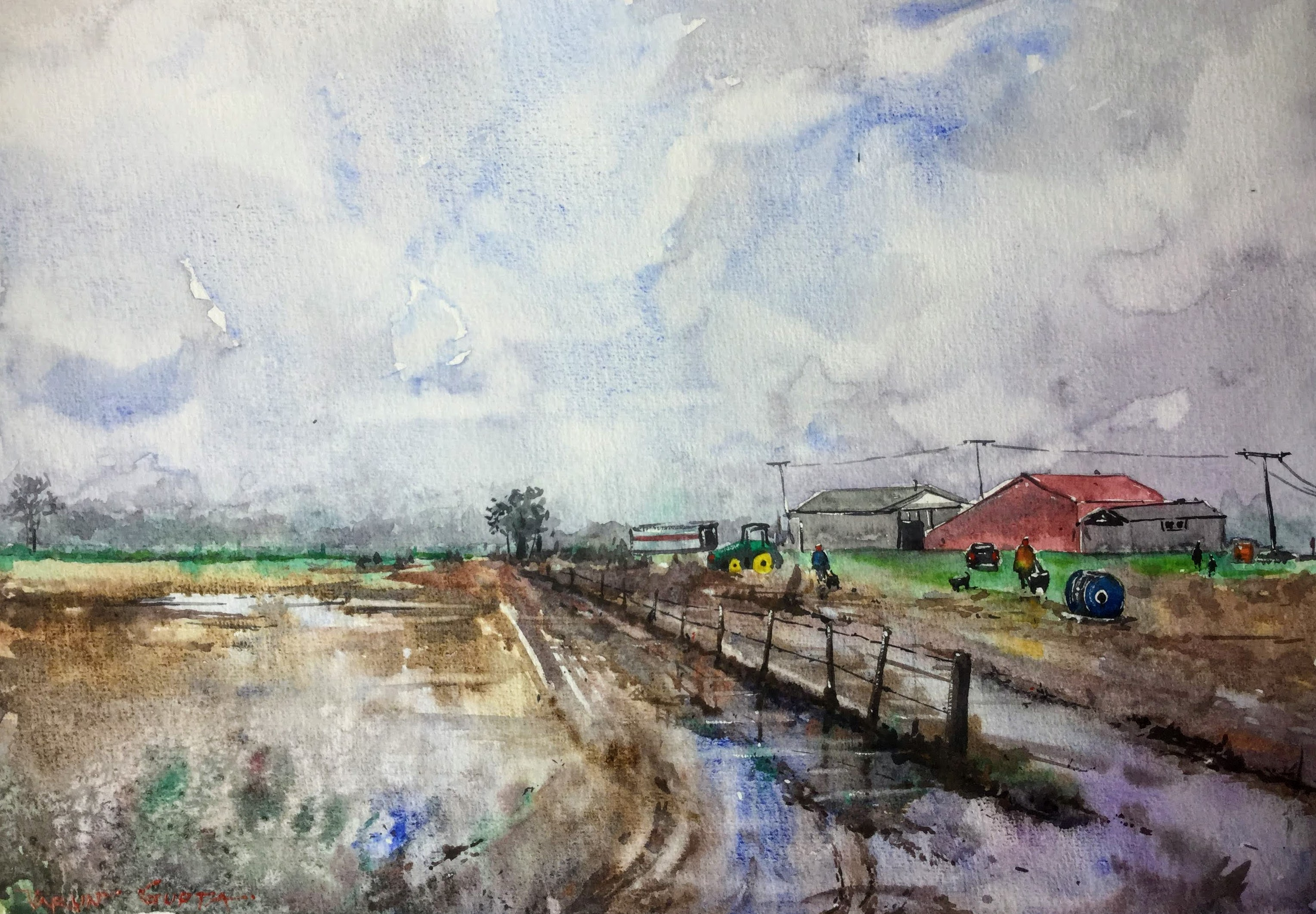 Village after a Rainy Day - Palmerston N