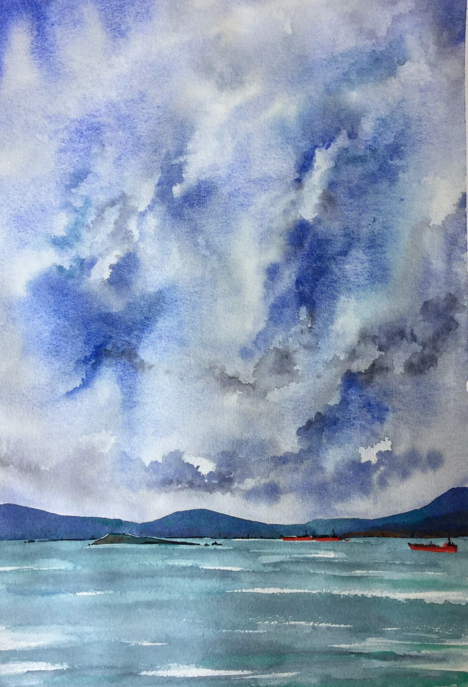 Imaginary Ships under Magical Clouds