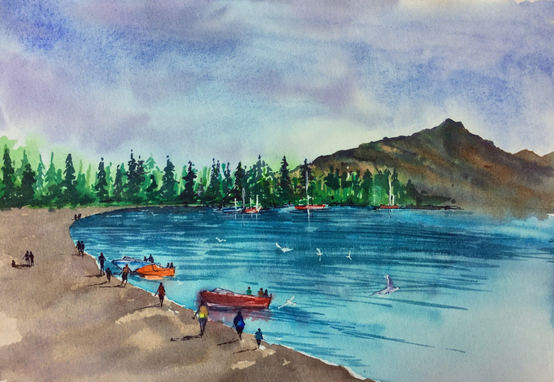 Queenstown - Bank of Wakatipu Lake