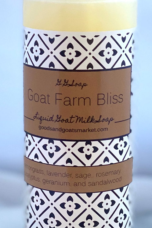 Goat Farm Bliss liquid Goat Milk Soap