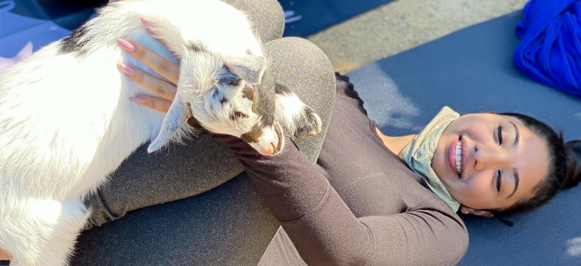 Baby Goat Pose with Buckeye