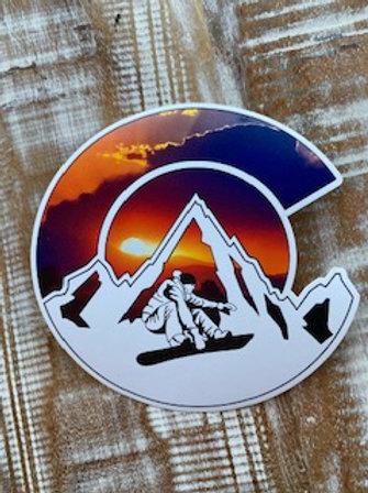 Colorado C snowboarder