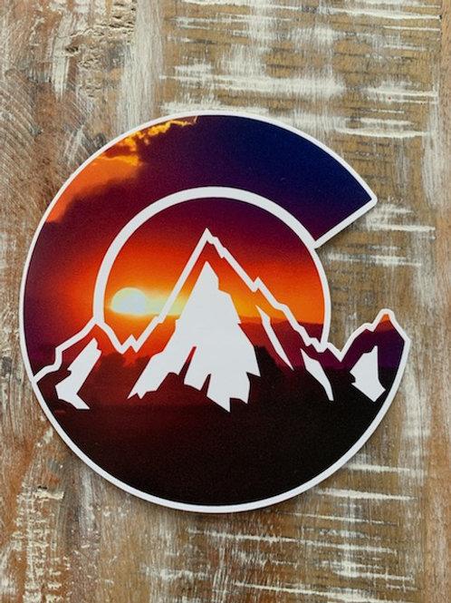 Colorado C sunset decal