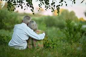 Elderly  couple on nature  at summer.jpg