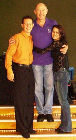 With Benji and Heidi...