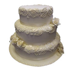 Victorian Lace Wedding Cake
