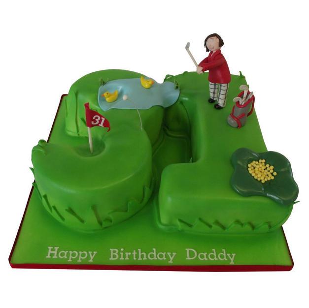 31st Golfing Birthday Cake from £125