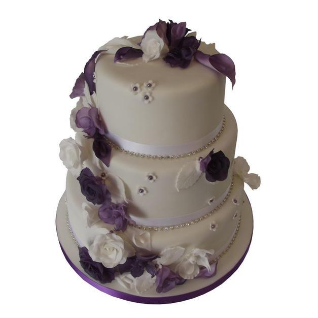 Orchids Wedding Cake