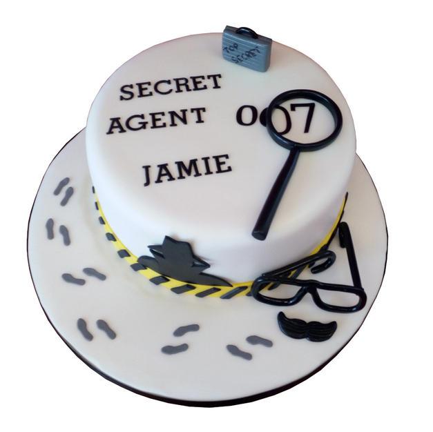 Secret Agent Cake from £80