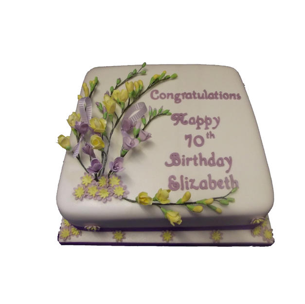 Freesias Cake from £125