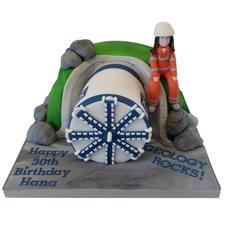 Tunnel Boring Machine Cake from £150