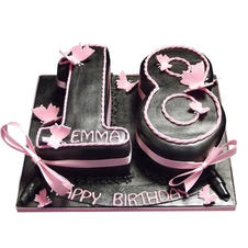 18th Birthday Cake with Butterflies from £100