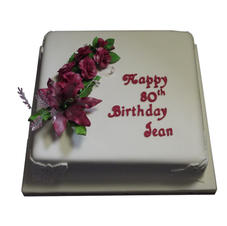 80th Birthday Cake from £125