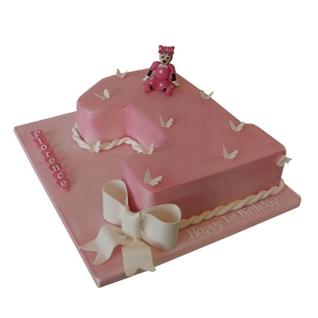 1st Birthday Cake with Minnie from £125
