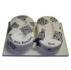 80th Crosswords Birthday Cake from £125