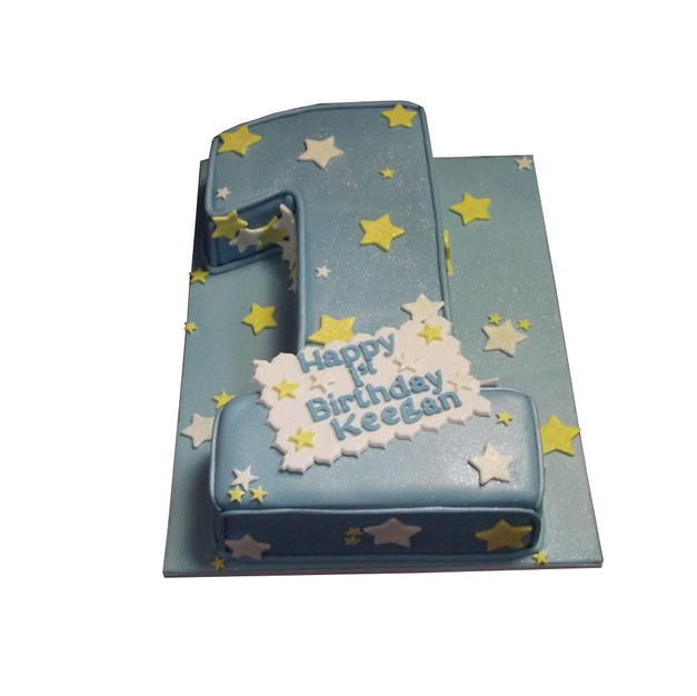 1st Birthday Cake with Stars from £100