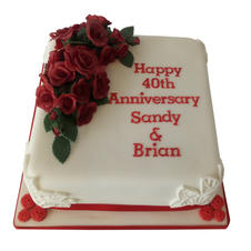 Ruby Anniversary Cake from £95