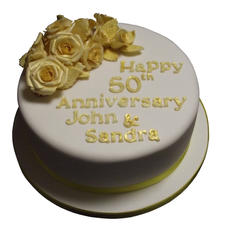 Golden Anniversary Cake from £95