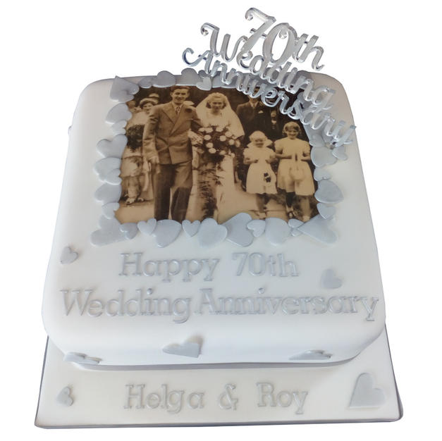 70th Anniversary Cake from £100