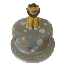 Lion Christening Cake from £90