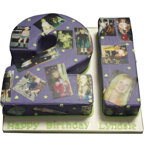 21st Birthday Cake with Photos from £125