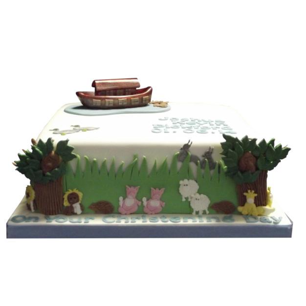 Noah's Ark Christening Cake from £135
