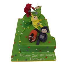 2nd Birthday Cake with Teletubbies from £135