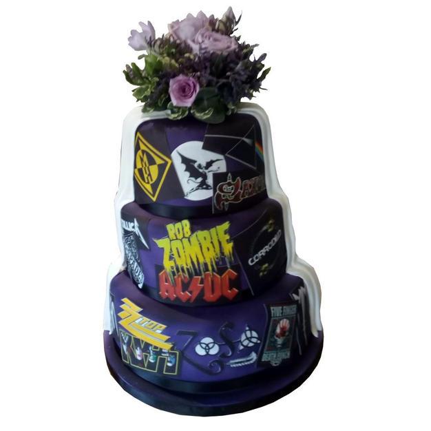 Rock Wedding Cake-Back