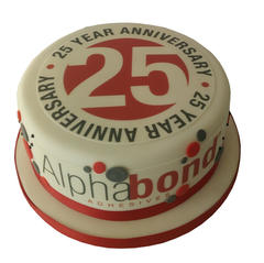 25th Anniversary Cake from £80