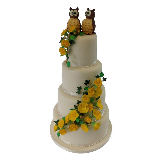 Owl Wedding Cake