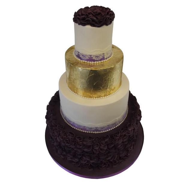 Edible Gold Wedding Cake