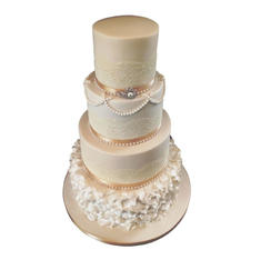 Ruffles & Lace Wedding Cake