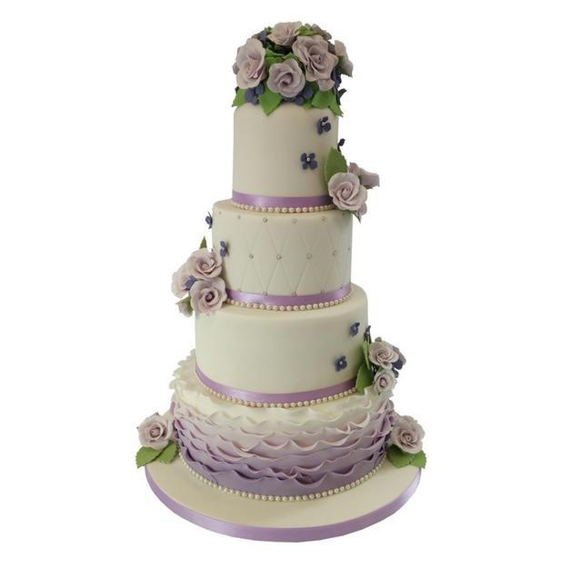 Lavendar Wedding Cake
