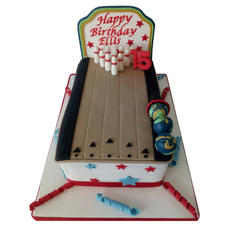 Bowling Alley Cake from £90