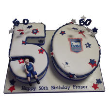 Football 50th Birthday Cake from £175
