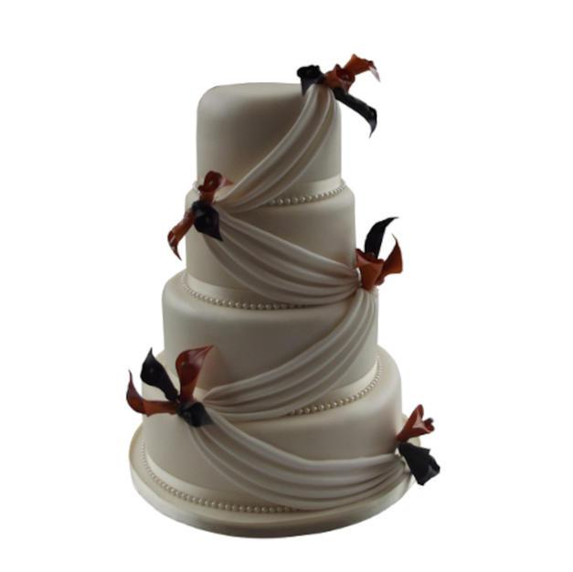 Silk Drape Wedding Cake