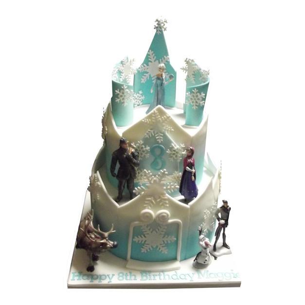 Frozen Castle Cake from £150