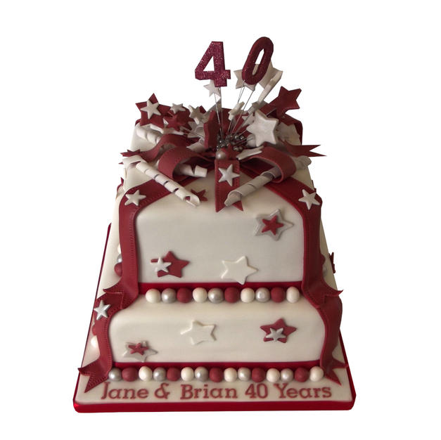 40th Anniversary Cake from £125