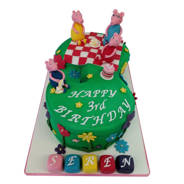 3rd Birthday Cake with Peppa Pig from £135